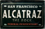 Alcatraz The Rock San Francisco Glass Fridge Magnet