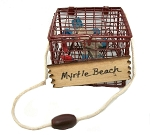 Myrtle Beach Crab Pot Metal Christmas Tree Ornament