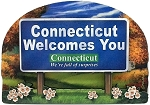 Connecticut State Welcome Sign Artwood Fridge Magnet