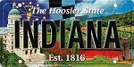 Indiana The Hoosier State License Plate Souvenir Fridge Magnet