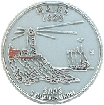 Maine State Quarter Fridge Magnet