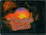 Virginia Beach Wave Foil Fridge Magnet