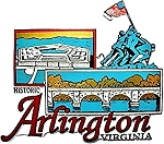 Historic Arlington Virginia Fridge Magnet