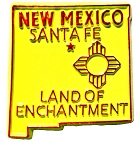 New Mexico the Land of Enchantment State Souvenir Fridge Magnet