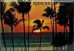 Hawaii Sunset Fridge Magnet