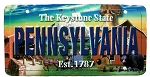Pennsylvania The Keystone State License Plate Souvenir Fridge Magnet