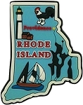 Rhode Island Providence Multi Color Fridge Magnet