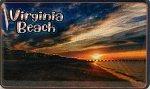 Virginia Beach Sunrise Foil Fridge Magnet