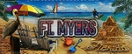 Ft. Myers Florida Foil Panoramic Fridge Magnet