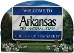 Arkansas State Welcome Sign Artwood Fridge Magnet