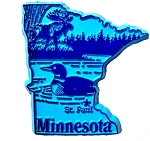 Minnesota St. Paul United States Fridge Magnet