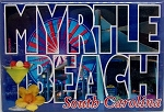 Myrtle Beach Block Style Fridge Magnet