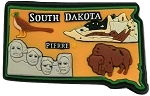 South Dakota Multi Color Fridge Magnet