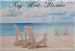 Key West Florida Beach Scene Fridge Magnet