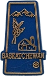 Saskatchewan Map Fridge Magnet