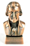 Thomas Jefferson 3rd President Bust Die Cast Metal Collectible Pencil Sharpener Design 1