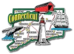 Connecticut Jumbo State Map Fridge Magnet