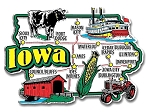 Iowa Jumbo State Map Fridge Magnet