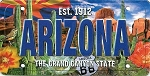 Arizona The Grand Canyon State License Plate Souvenir Fridge Magnet