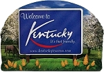 Kentucky State Welcome Sign Artwood Fridge Magnet