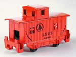Old Time Red Caboose Die Cast Metal Collectible Pencil Sharpener Design 1