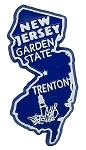 New Jersey The Garden State Fridge Magnet