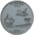 Florida State Quarter Fridge Magnet