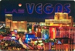 Las Vegas Twilight Strip Double Sided 3D Key Chain