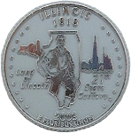Illinois State Quarter Fridge Magnet