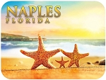 Naples Florida with Starfish Family Fridge Magnet