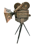 Motion Picture Camera Die Cast Metal Collectible Pencil Sharpener