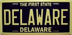 Delaware State License Plate Novelty Fridge Magnet