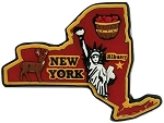New York Albany Multi Color Fridge Magnet