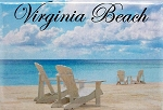 Virginia Beach-Beach Scene Fridge Magnet