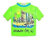 Atlantic City New Jersey Tee Shirt Fridge Magnet