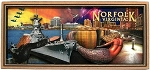 Norfolk Virginia Artwood Fridge Magnet