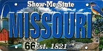 Missouri The Show-Me State License Plate Souvenir Fridge Magnet