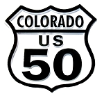 Route 50 Colorado Road Sign Fridge Magnet