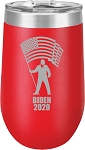 Biden 2020 Stainless Steel Insulated Wine Tumbler with Lid 12 oz. or 16 Oz.