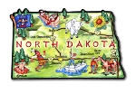 North Dakota the Peace Garden State Artwood Jumbo Fridge Magnet