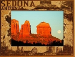 Sedona Arizona Laser Engraved Wood Picture Frame