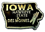 Iowa The Hawkeye State Souvenir Fridge Magnet