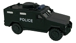 Police SWAT Truck Black Die Cast Metal Collectible Pencil Sharpener