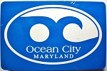 Ocean City Maryland Blue Wave Souvenir Playing Cards