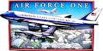 Air Force One Artwood Fridge Magnet