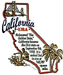 California The Golden State Outline Montage Fridge Magnet