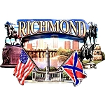 Richmond Virginia Montage Artwood Fridge Magnet