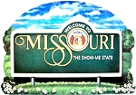 Missouri State Welcome Sign Artwood Fridge Magnet