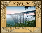New River Gorge Bridge West Virginia Laser Engraved Wood Picture Frame (5 x 7)