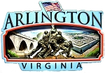 Arlington Virginia Artwood Fridge Magnet